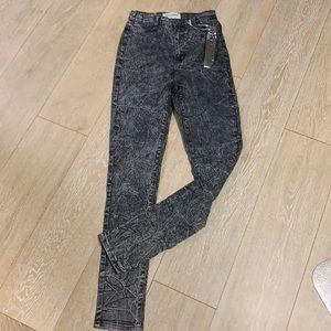 NWT Rox denim black acid wash jeans